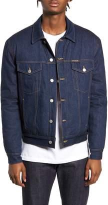 Calvin Klein Jeans Quilted Denim Trucker Jacket
