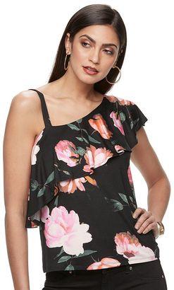 Women's Jennifer Lopez One-Shoulder Ruffle Top $34 thestylecure.com