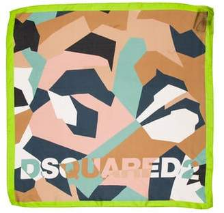 DSQUARED2 Printed Silk Scarf