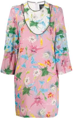 Class Roberto Cavalli floral print shift dress
