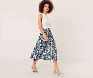 Oasis LEOPARD PLEATED SKIRT