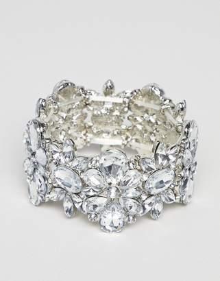 True Decadence True Decadance Silver Embellished Rhinestone Bracelet