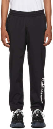 Resort Corps Black Nylon Lounge Pants