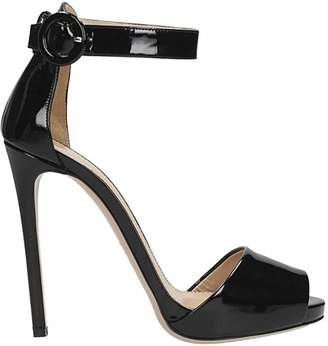 Lerre Black Patent Leather Sandals