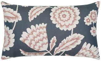 Elaine Smith Floral Vine Lumbar Sunbrella Pillow, Indigo