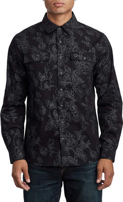 True Religion MENS FLORAL PRINT UTILITY SHIRT