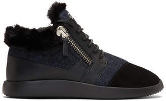 Giuseppe Zanotti Black Single Kalisi High-Top Sneakers