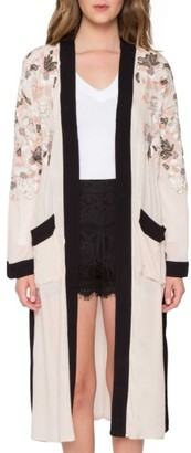 Women's Willow & Clay Embroidered Kimono $109 thestylecure.com