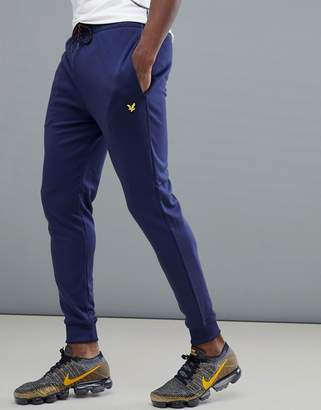 Lyle & Scott Fitness Lynch Tricot Tracksuit Bottoms In Navy