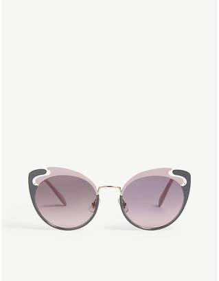 9581d3d631cf Miu Miu Pink Women s Sunglasses - ShopStyle