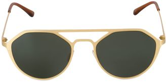 Geometric I-Metal Sunglasses $197 thestylecure.com