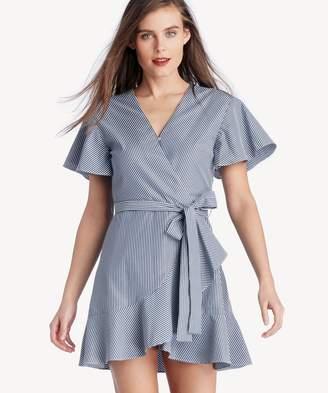 Sole Society Flare Sleeve Wrap Dress With Waist Tie