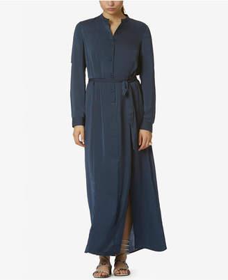 Avec Les Filles Satin Maxi Tunic Dress $128 thestylecure.com