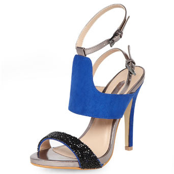 Dorothy Perkins Black and blue 2 part sandals