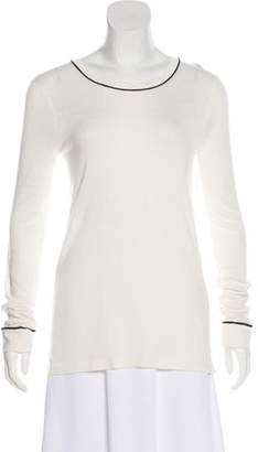 Jenni Kayne Cashmere-Blend Long Sleeve Top