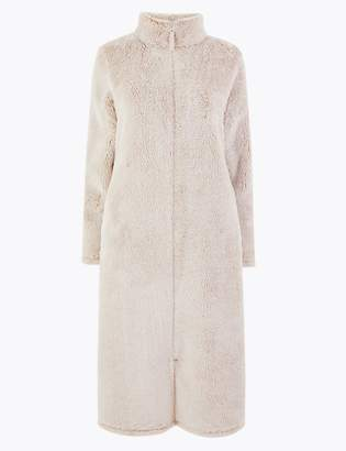 M&S CollectionMarks and Spencer Fleece Zip-up Dressing Gown