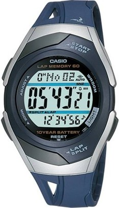Casio 60-Lap Runner's Watch, Blue - STR300C-2V