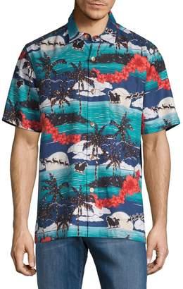Tommy Bahama Moonlight Island Silk Short-Sleeve Shirt