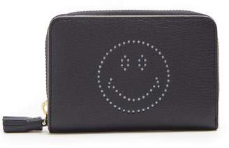 Anya Hindmarch Smiley zip-around leather wallet