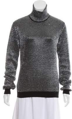 Versace Mock-Neck Long Sleeve Sweater