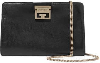 Gv3 Textured-leather Shoulder Bag - Black