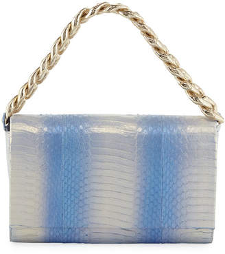 Nancy Gonzalez Carrie Small Ombre Snakeskin Clutch Bag