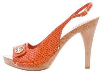 Christian Dior Snakeskin Slingback Sandals