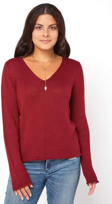 Neely Basket Weave V Neck Pullover