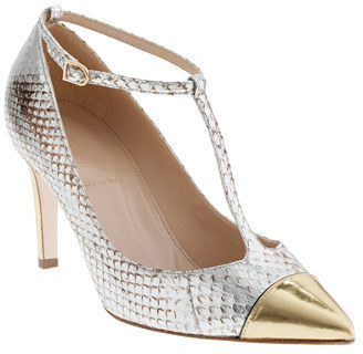 J.Crew Collection Everly snakeskin T-strap pumps