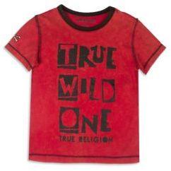 True Religion Toddler's, Little Boy's & Boy's Graphic Front T-shirt $39 thestylecure.com