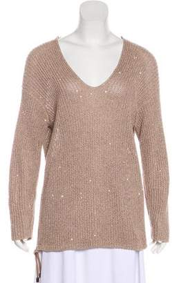 Brunello Cucinelli Sequined Long Sleeve Sweater