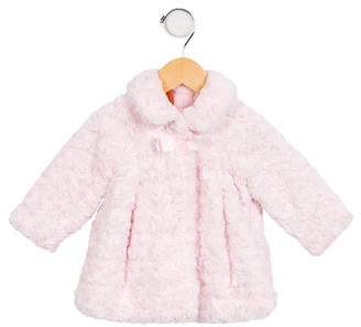 Mayoral Girls' Collared Faux Fur Jacket