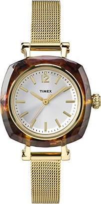 Timex Women's TW2P69900AB City Collection Analog Display Quartz Gold Watch $75 thestylecure.com