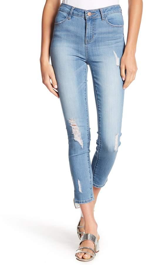 ASHLEY MASON Distressed High Rise Skinny Jeans