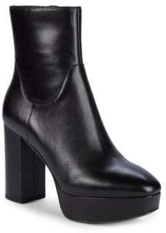Ash Amazon Leather Platform Booties