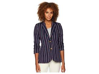Lauren Ralph Lauren Striped Jacquard Blazer Women's Jacket