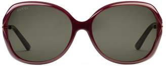 Gucci Oversize round-frame acetate and metal sunglasses