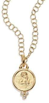 Temple St. Clair Angel Diamond& 18K Yellow Gold Medium Pendant