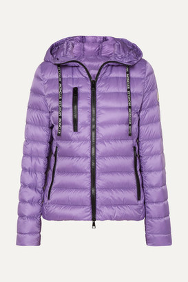 Moncler Hooded Quilted Shell Down Jacket - Purple