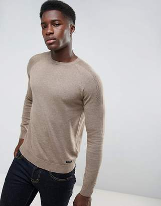 Threadbare Textured Shoulder Knit Jumper