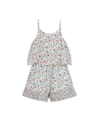 a31a548ff08 Chloé Childrenswear Floral Gathered Trim Playsuit Colour  MULTI