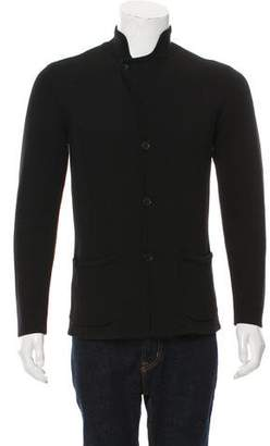 John Varvatos Woven Button-Up Cardigan