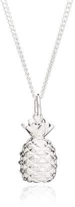 Rachel Jackson London - Pineapple Necklace Silver Long