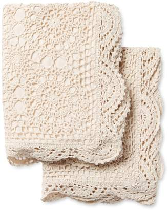Melange Home Crochet Coverlet Shams (Set of 2)