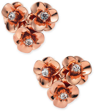 Kate Spade Gold-Tone Pave Flower Cluster Stud Earrings