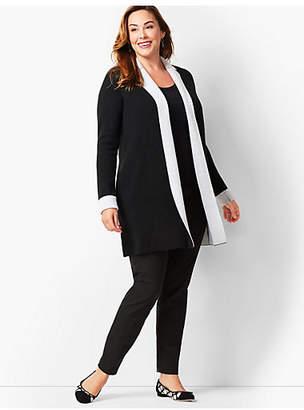Talbots Plus Size Merino Double-Knit Cardigan