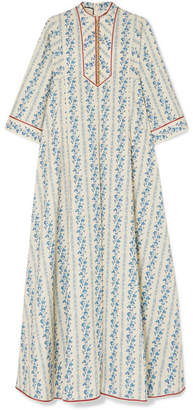 Gucci Floral-print Cotton-blend Kaftan - Blue