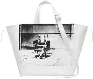 Calvin Klein 205w39nyc x andy warhol electric chair tote bag