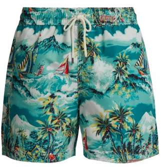 Polo Ralph Lauren Hawaii Print Swim Shorts - Mens - Green Multi
