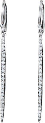 La Soula Sterling Silver Diamond Earrings